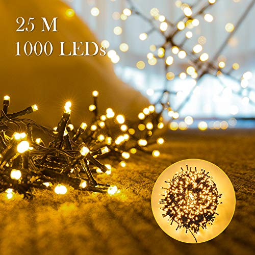 1000er leds lichterkette 25m led weihnachtsbeleuchtung. Black Bedroom Furniture Sets. Home Design Ideas