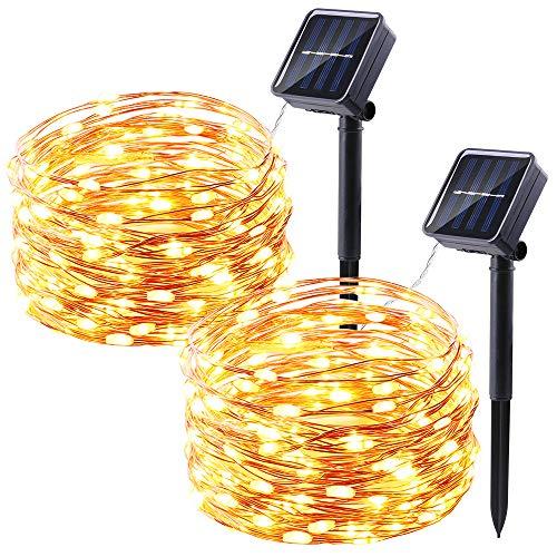 solar lichterkette au en qedertek 10m 100 led. Black Bedroom Furniture Sets. Home Design Ideas