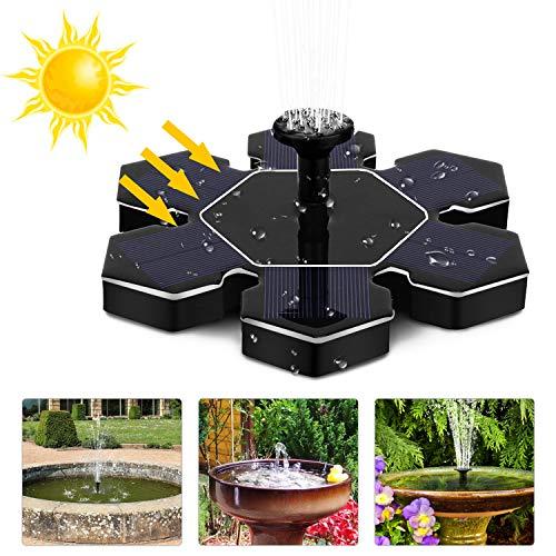 LATITOP Solar Teichpumpe Upgraded 1 5W Solar Brunnenwasserpumpe Springbrunnen, Freistehend  ~ 25103717_Kleiner Garten Springbrunnen Solar